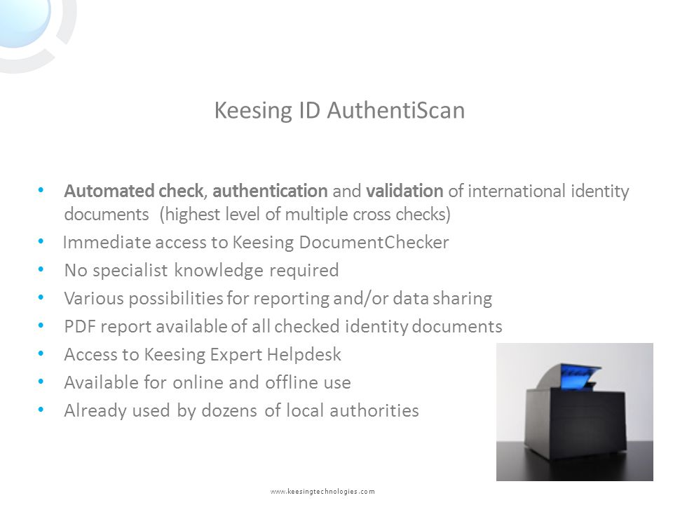 Keesing ID AuthentiScan