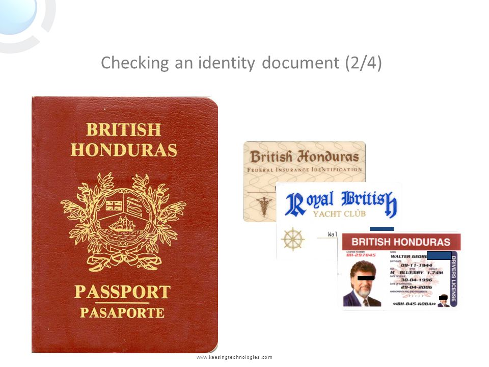Checking an identity document (2/4)