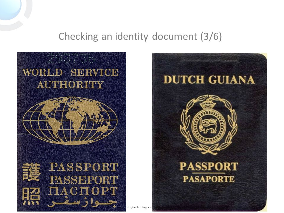 Checking an identity document (3/6)