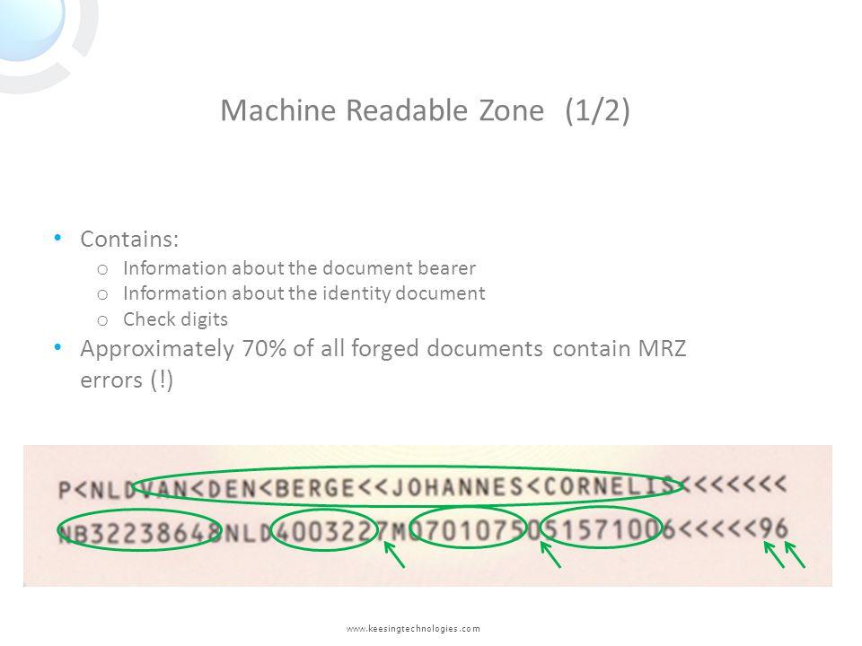 Machine Readable Zone (1/2)