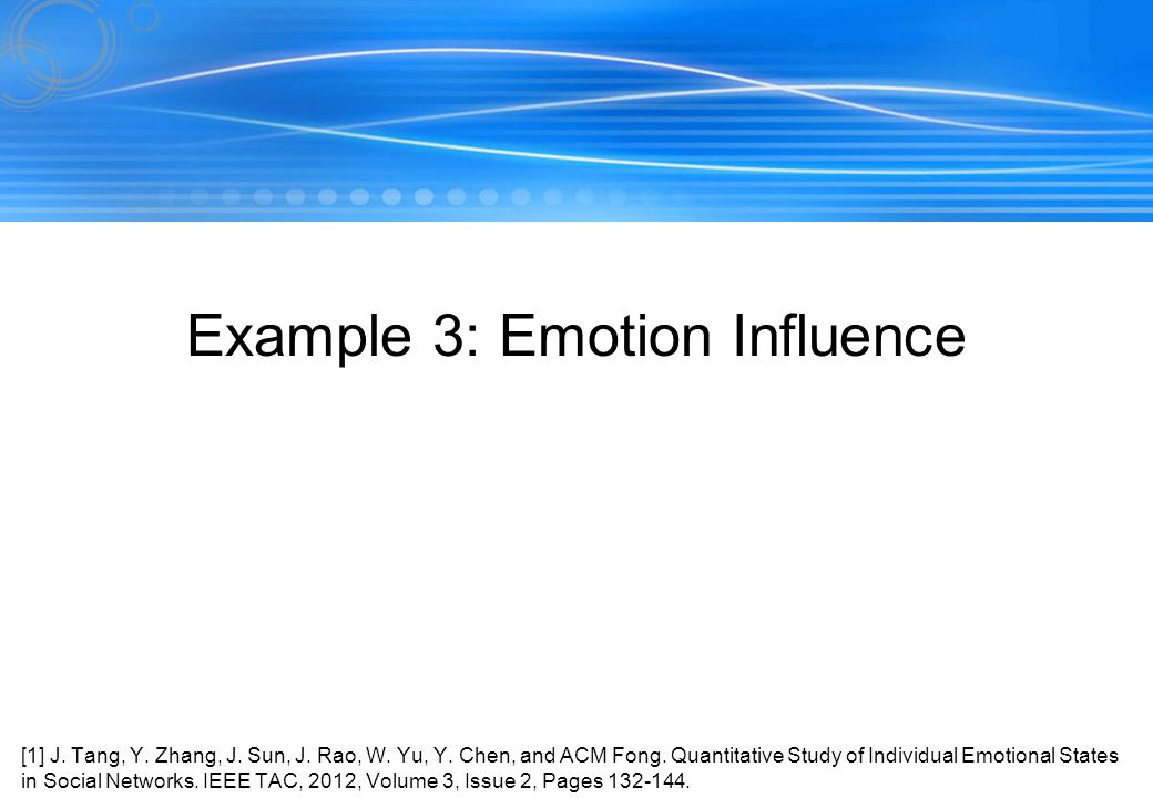 Example 3: Emotion Influence