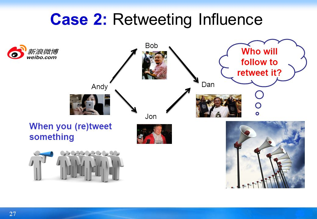 Case 2: Retweeting Influence