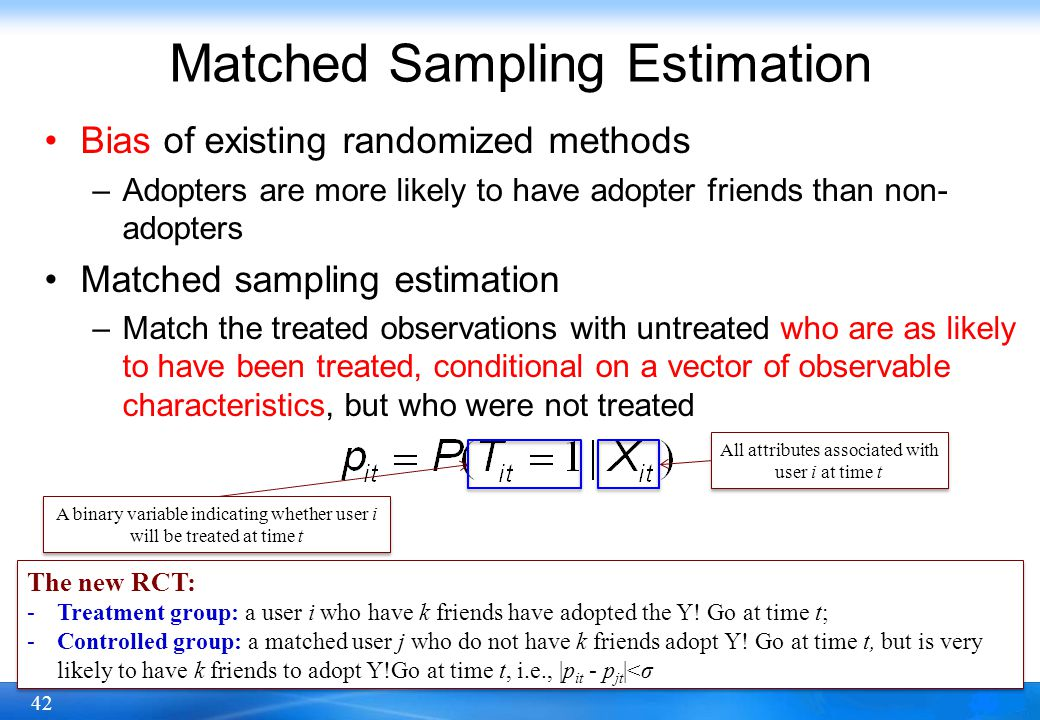 Matched Sampling Estimation