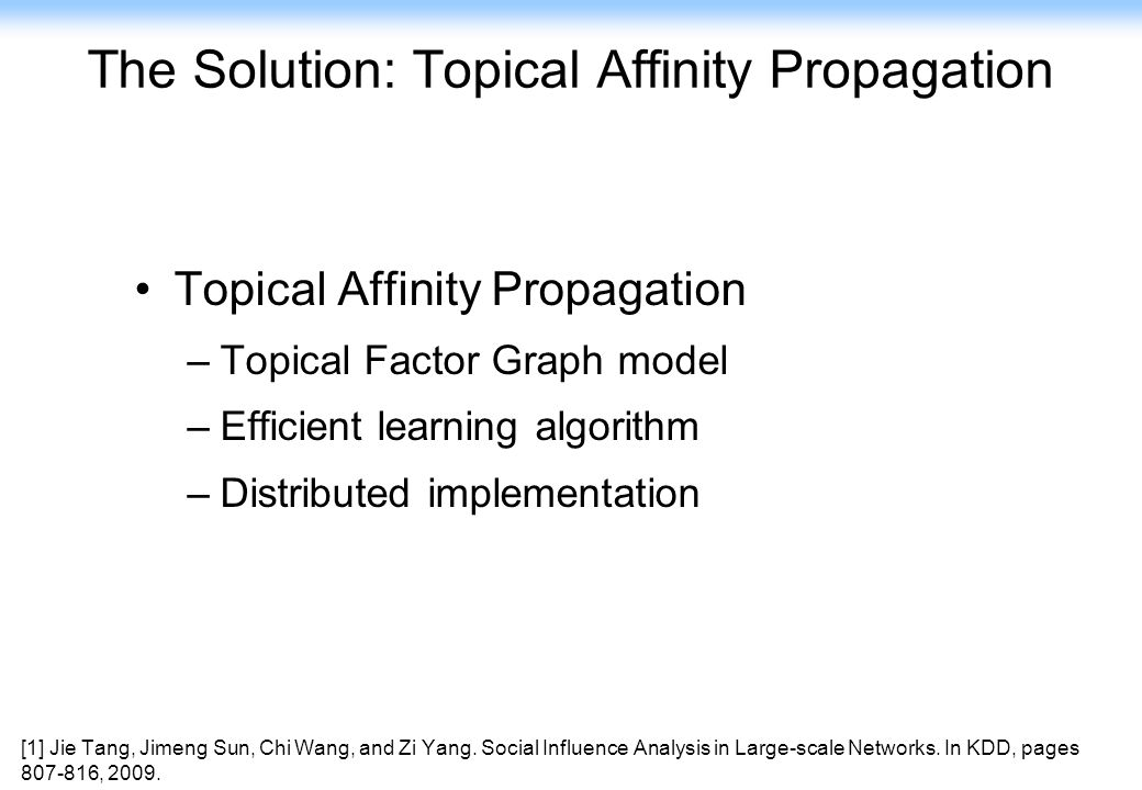 The Solution: Topical Affinity Propagation