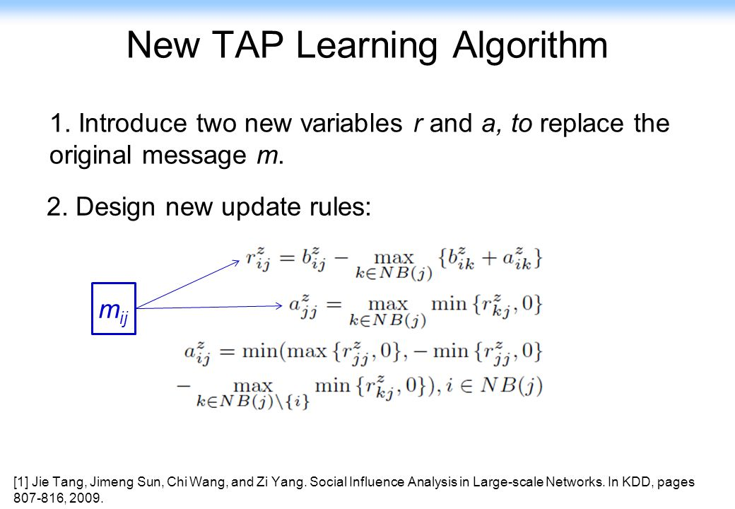 New TAP Learning Algorithm