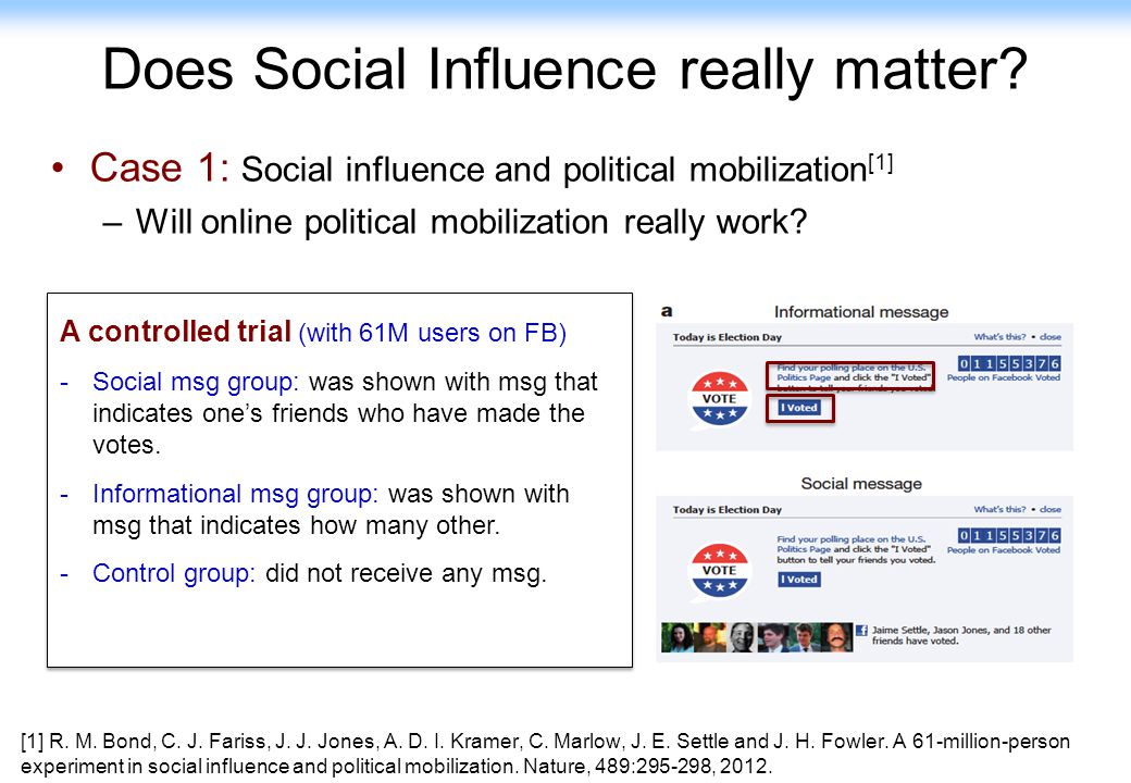 Does Social Influence really matter