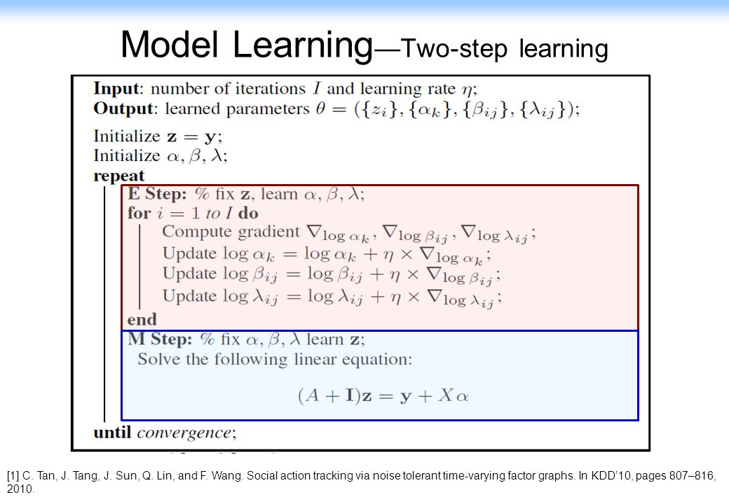 Model Learning—Two-step learning