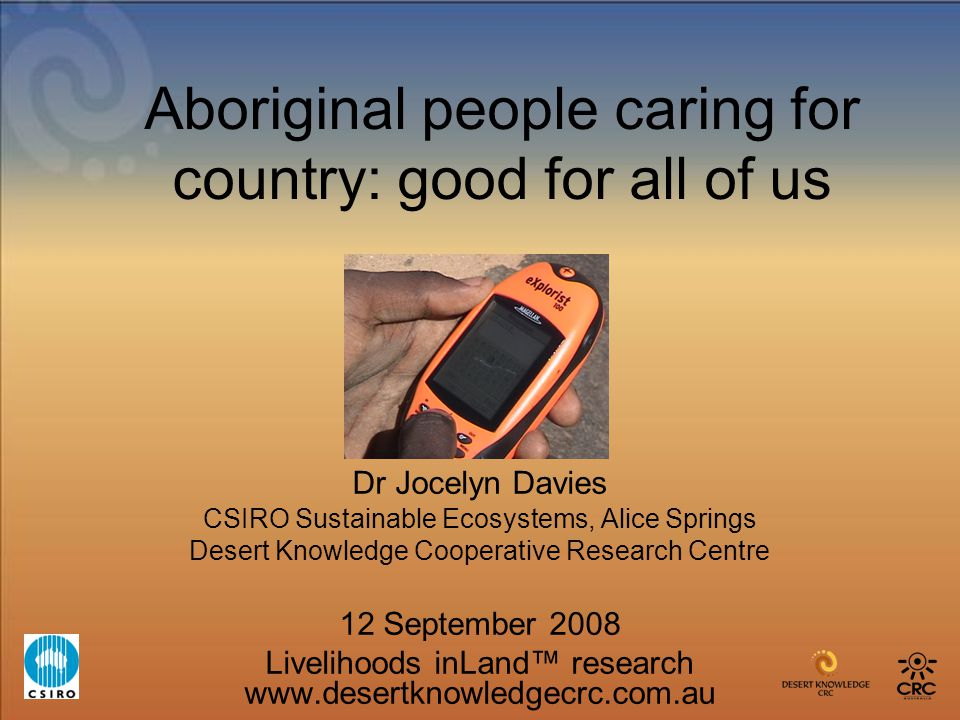 Aboriginal people caring for country: good for all of us