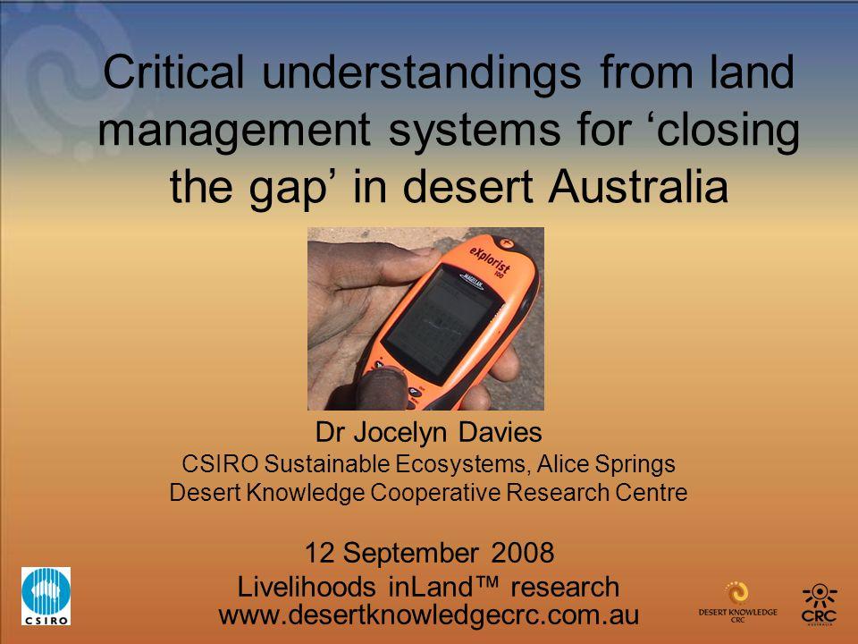 Jocelyn Davies CSIRO, DK-CRC