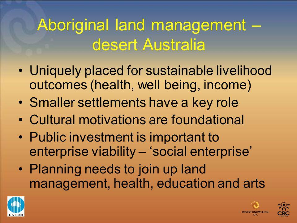 Aboriginal land management – desert Australia