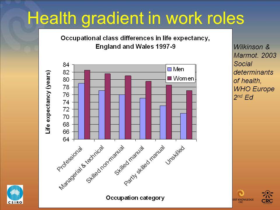 Health gradient in work roles