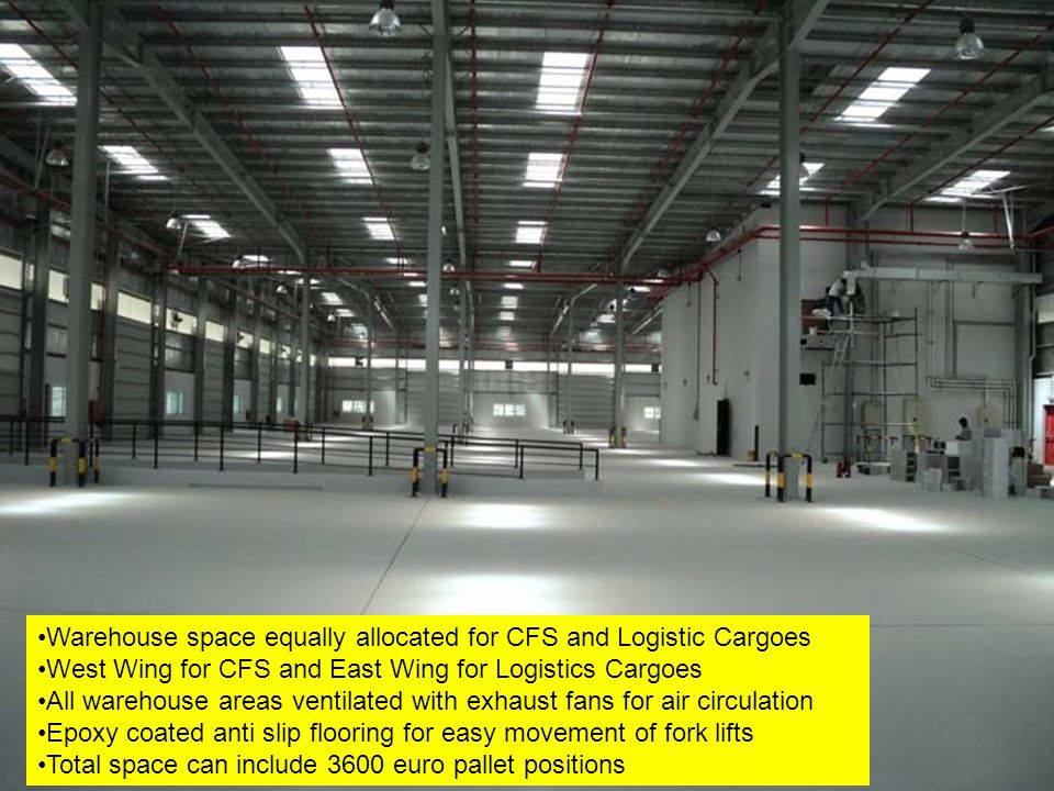 Warehouse space equally allocated for CFS and Logistic Cargoes