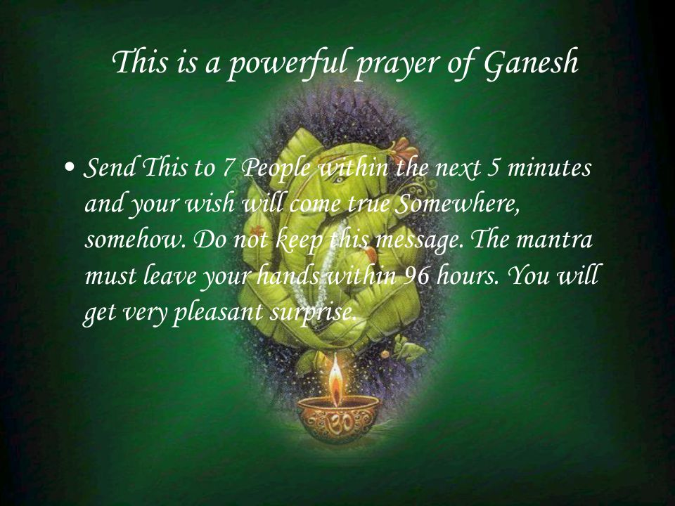 This is a powerful prayer of Ganesh