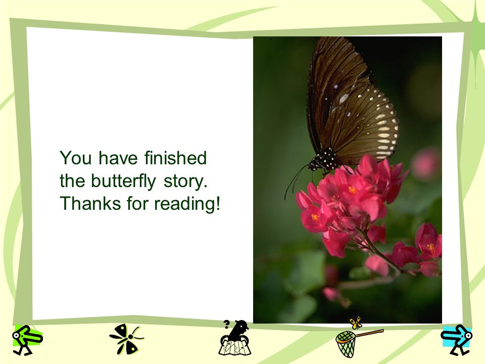 You have finished the butterfly story. Thanks for reading!
