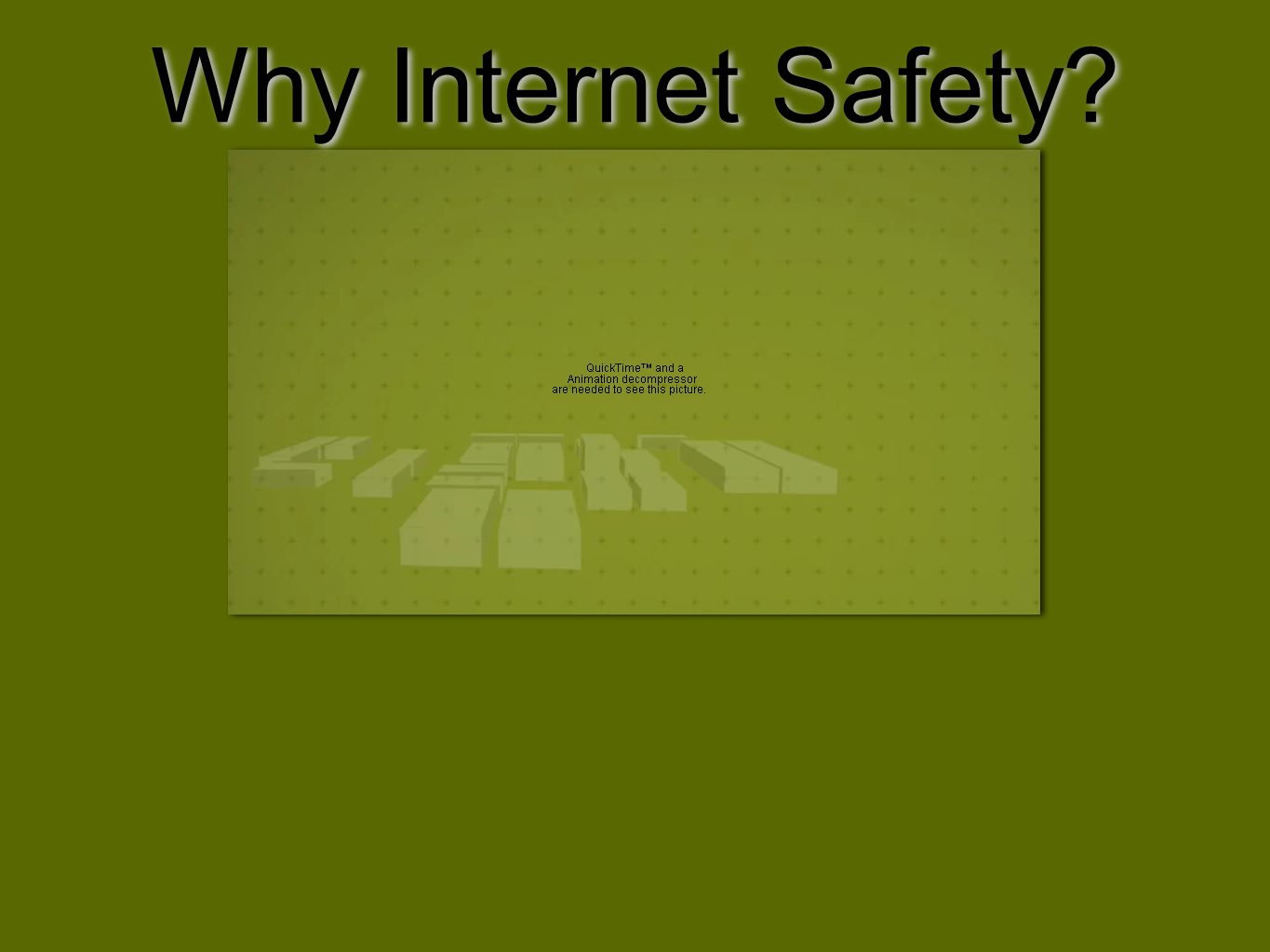 Why Internet Safety