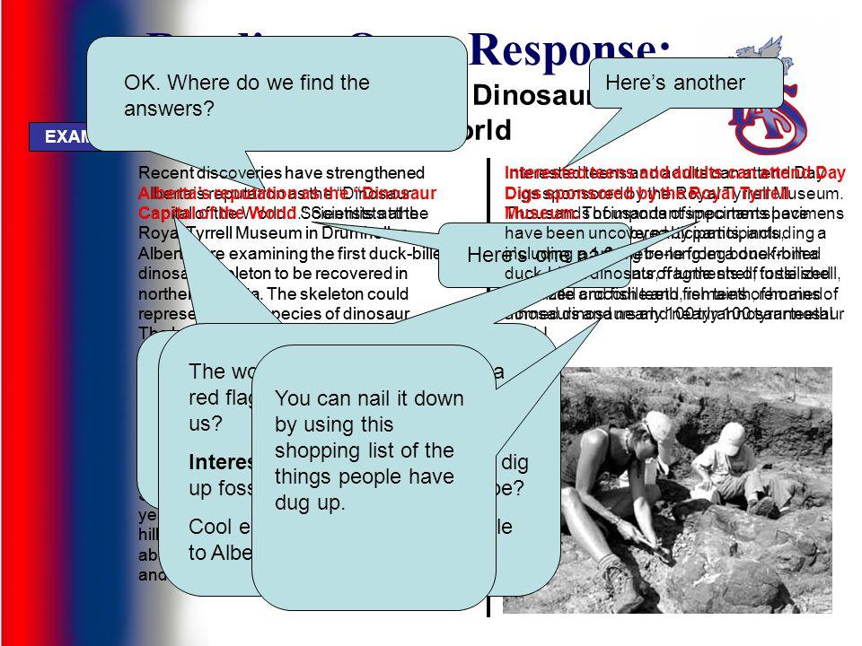Reading: Open Response: