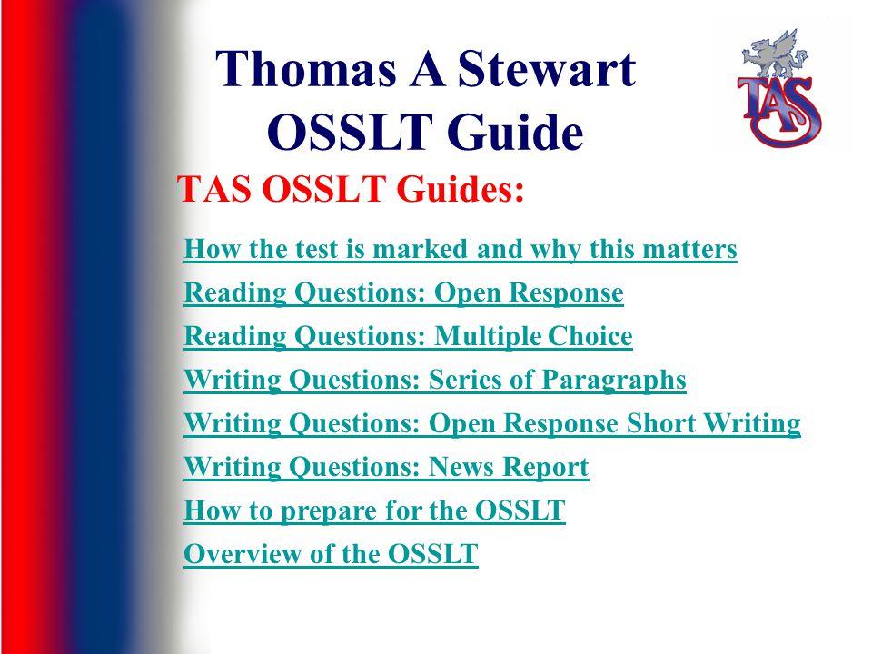 Thomas A Stewart OSSLT Guide