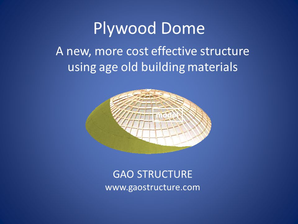 A new, more cost effective structure using age old building materials