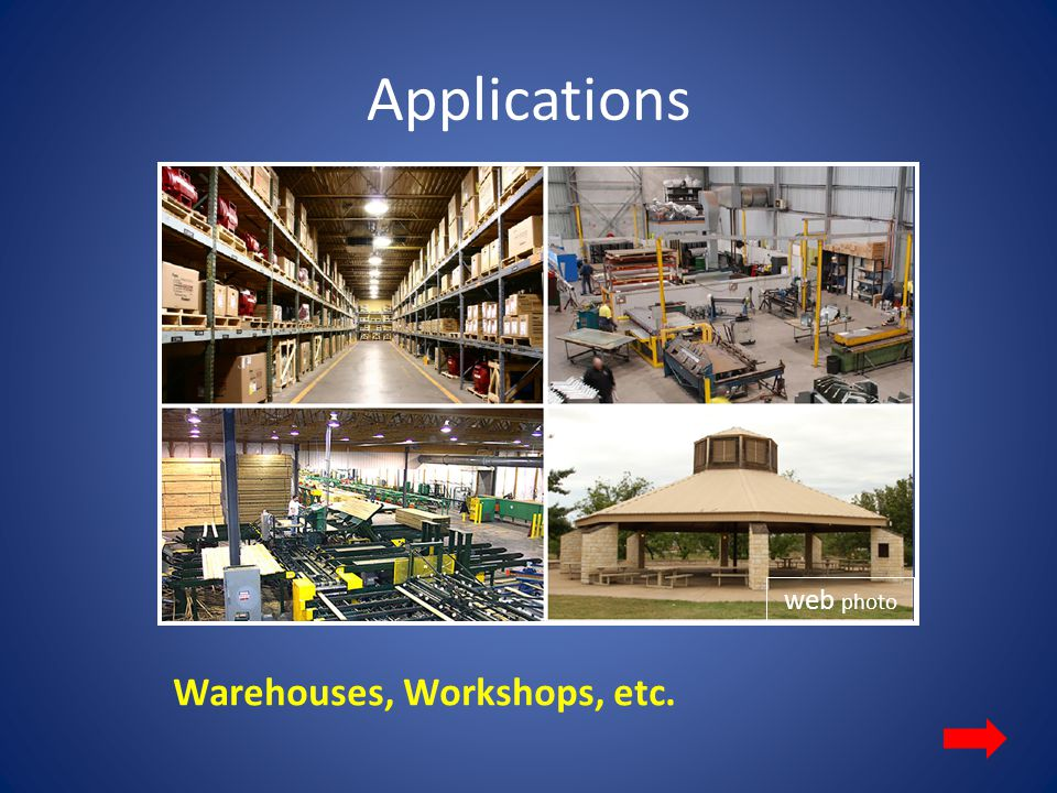 Applications web photo Warehouses, Workshops, etc.