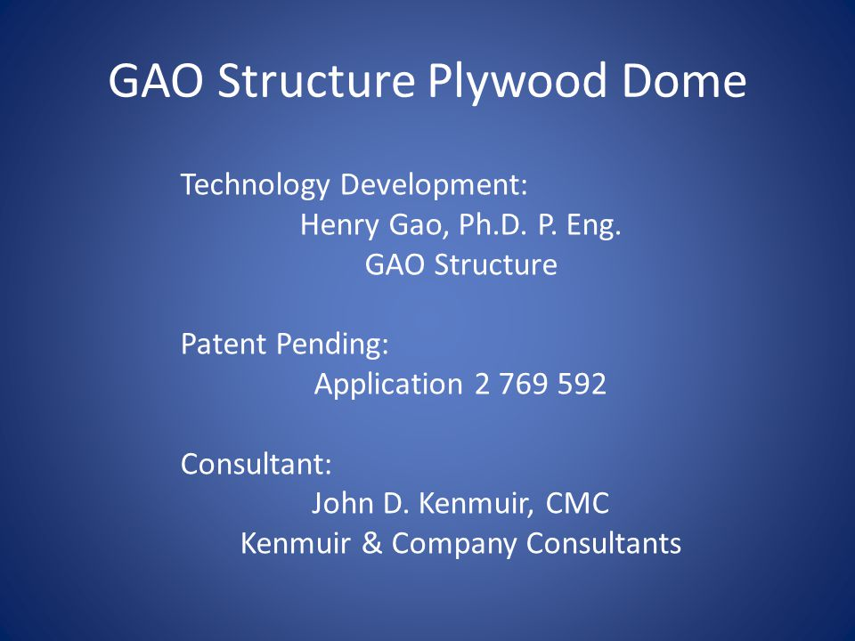 GAO Structure Plywood Dome
