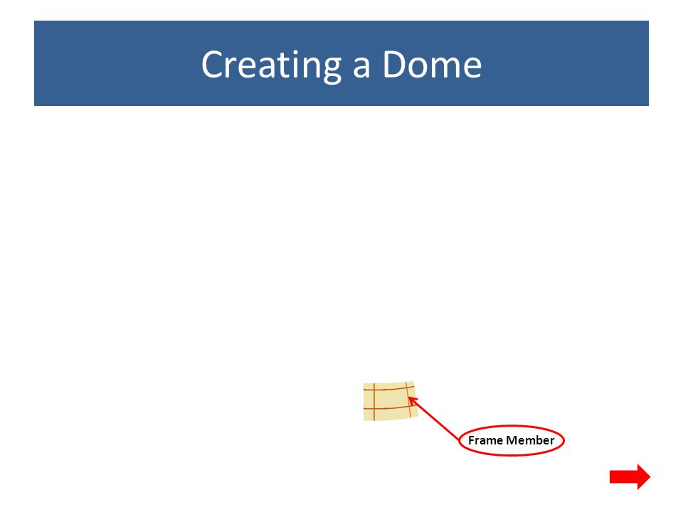 Creating a Dome Plywood Dome surface Frame Member