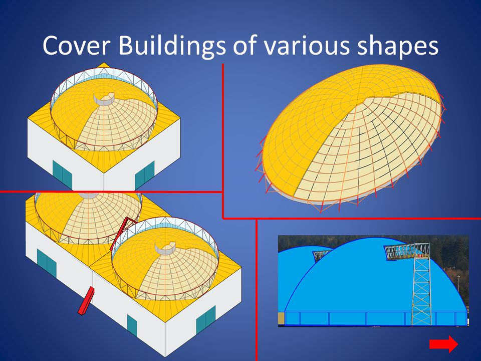 Cover Buildings of various shapes