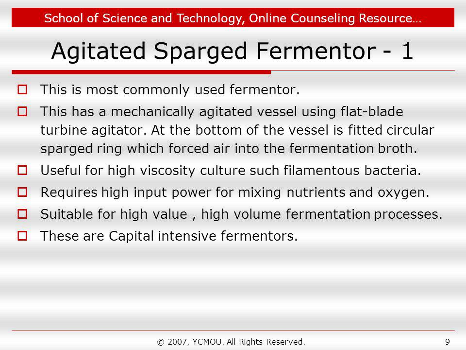 Agitated Sparged Fermentor - 1