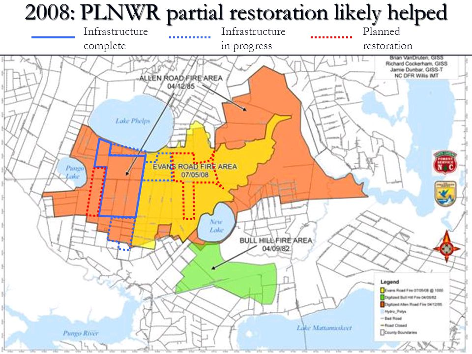 2008: PLNWR partial restoration likely helped