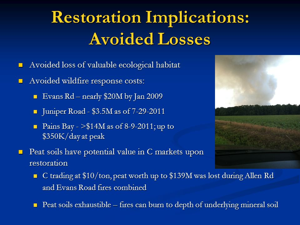 Restoration Implications: Avoided Losses