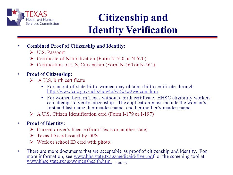 Citizenship and Identity Verification