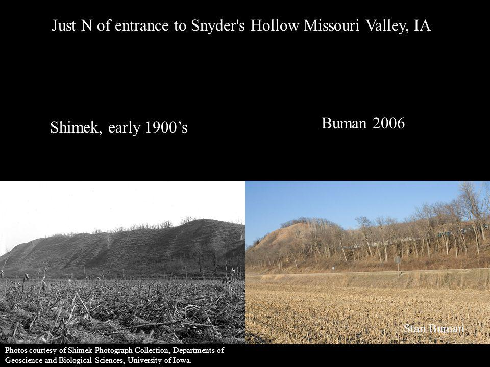 Just N of entrance to Snyder s Hollow Missouri Valley, IA