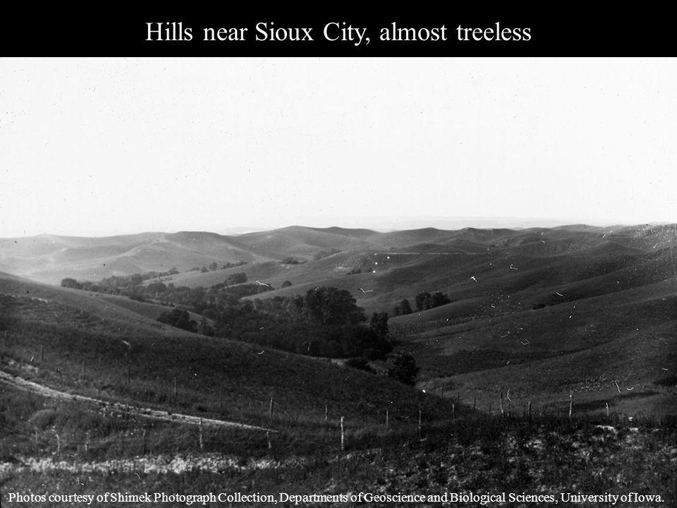 Hills near Sioux City, almost treeless