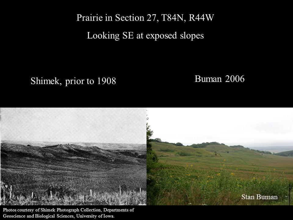 Prairie in Section 27, T84N, R44W Looking SE at exposed slopes
