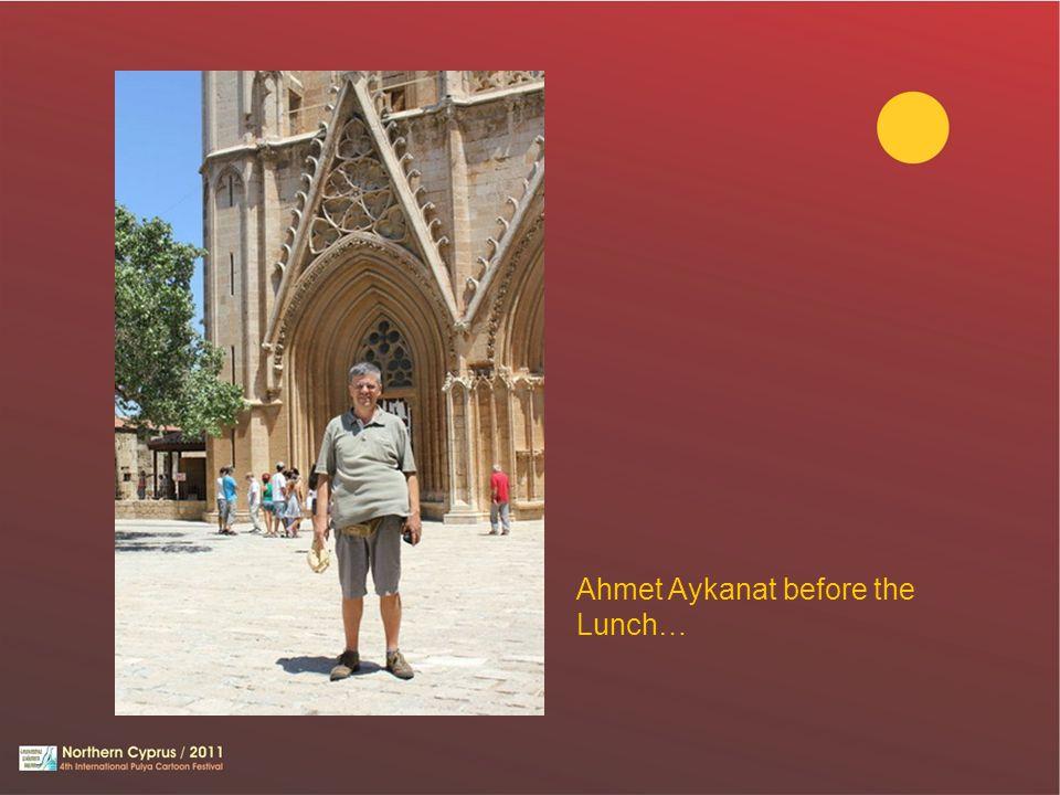 Ahmet Aykanat before the Lunch…