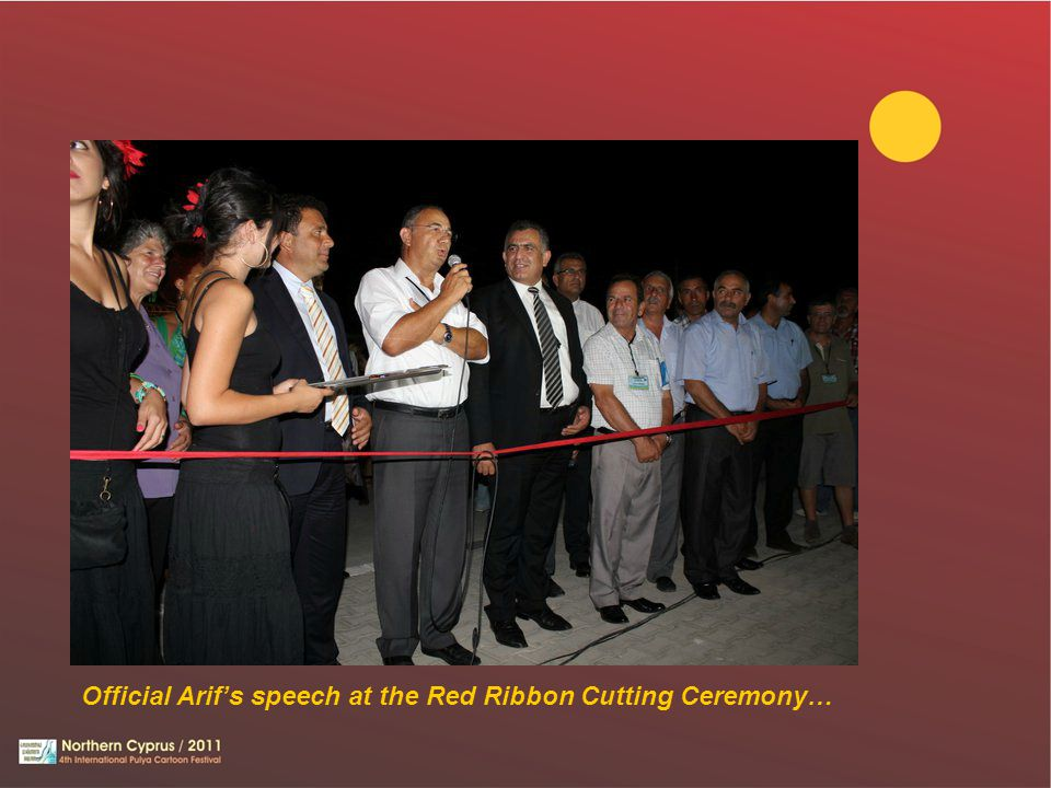 Official Arif's speech at the Red Ribbon Cutting Ceremony…