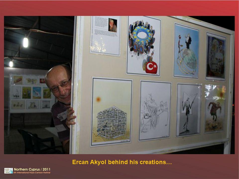 Ercan Akyol behind his creations…