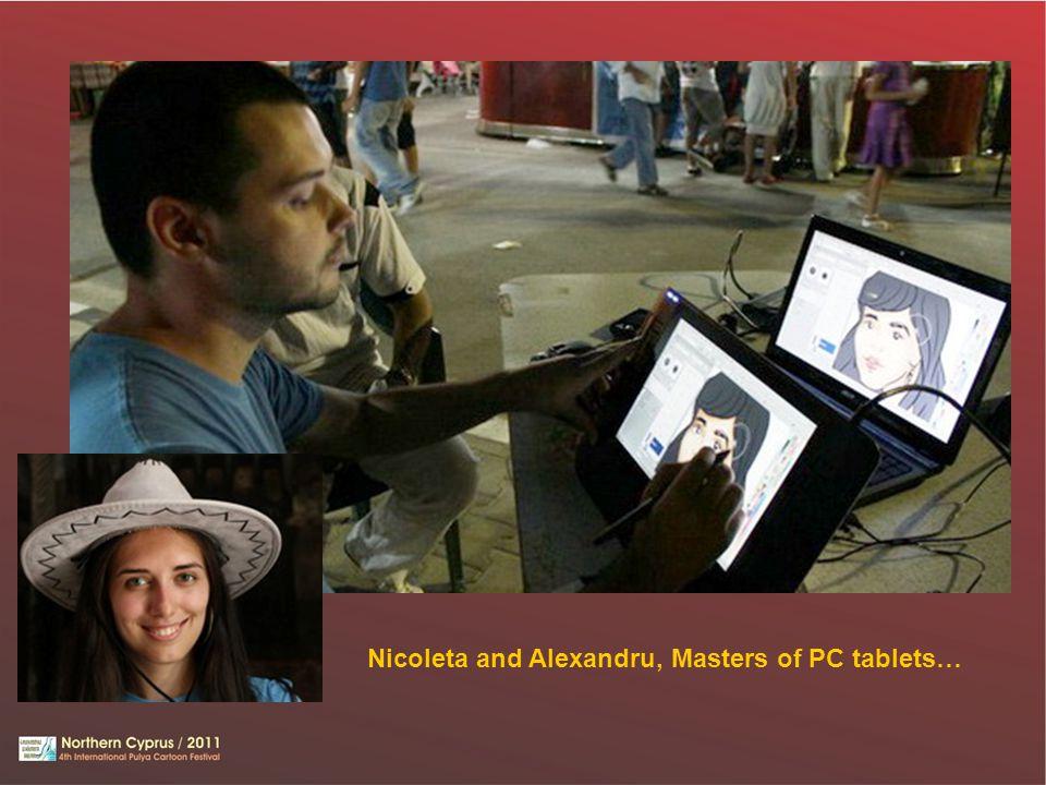 Nicoleta and Alexandru, Masters of PC tablets…