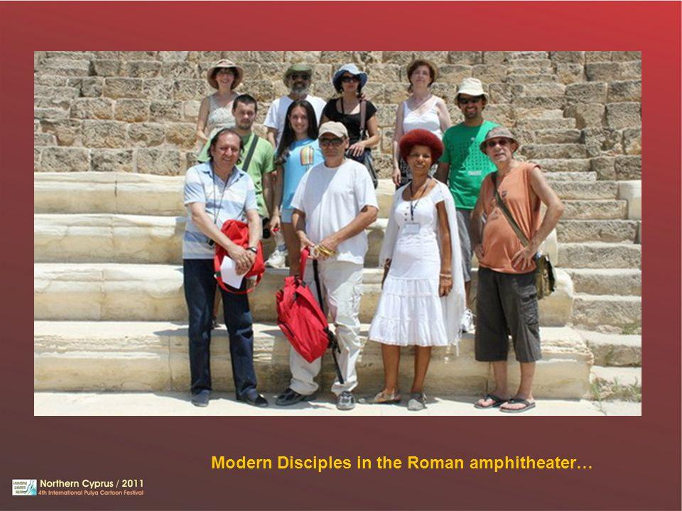 Modern Disciples in the Roman amphitheater…