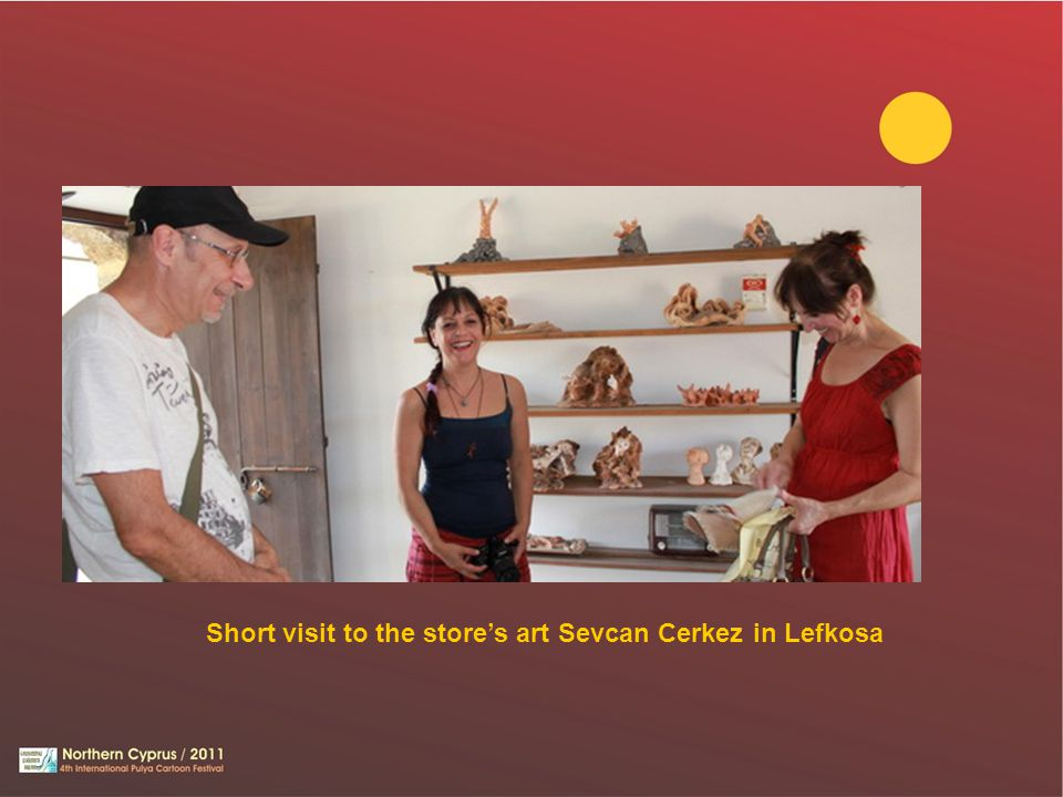 Short visit to the store's art Sevcan Cerkez in Lefkosa