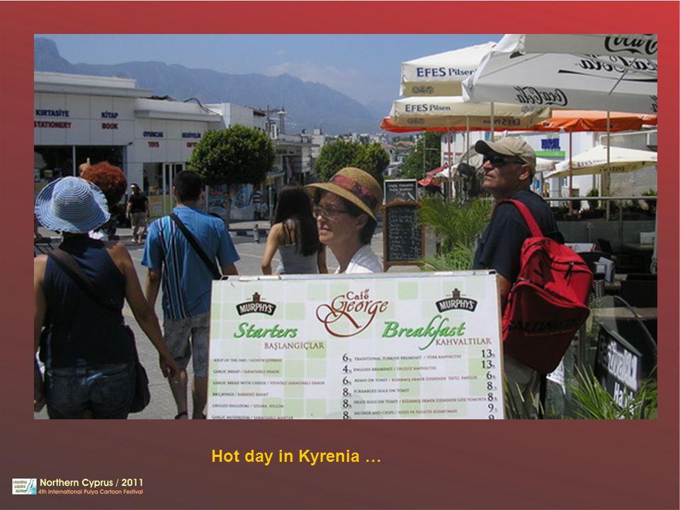 Hot day in Kyrenia …