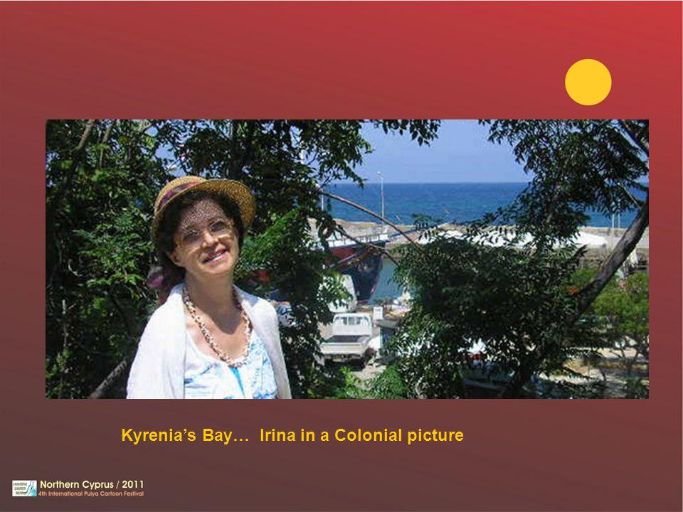 Kyrenia's Bay… Irina in a Colonial picture
