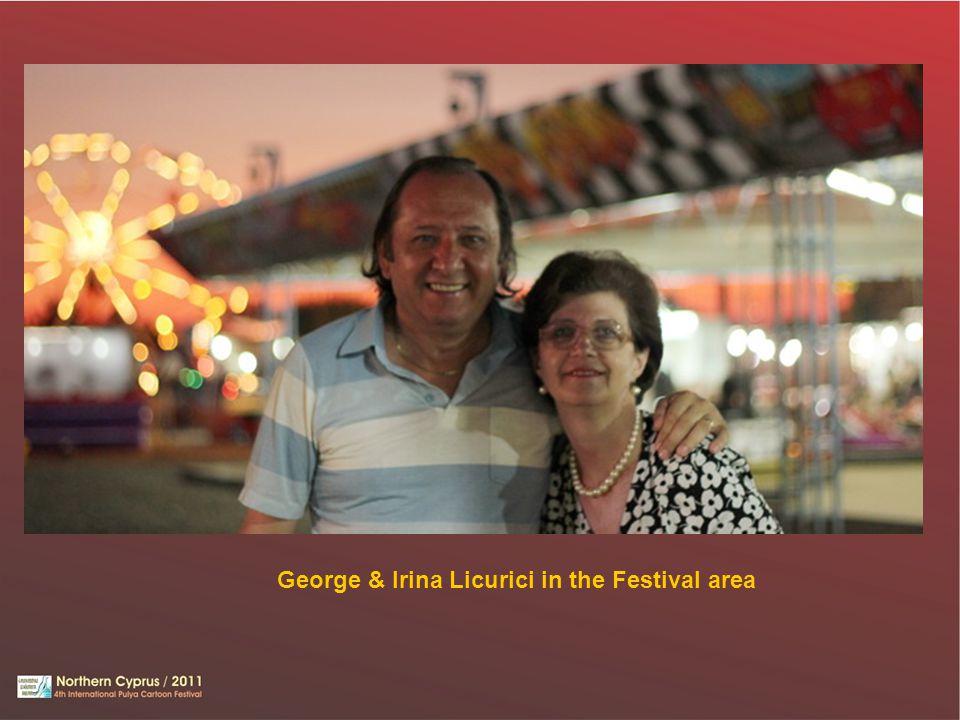 George & Irina Licurici in the Festival area