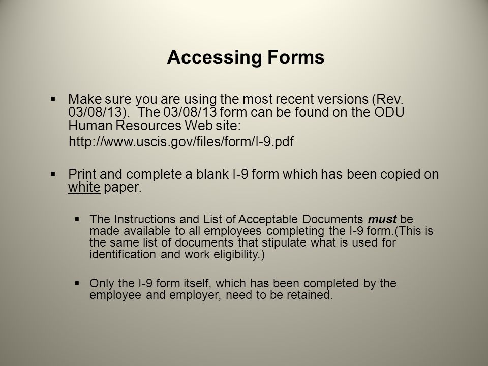 Accessing Forms