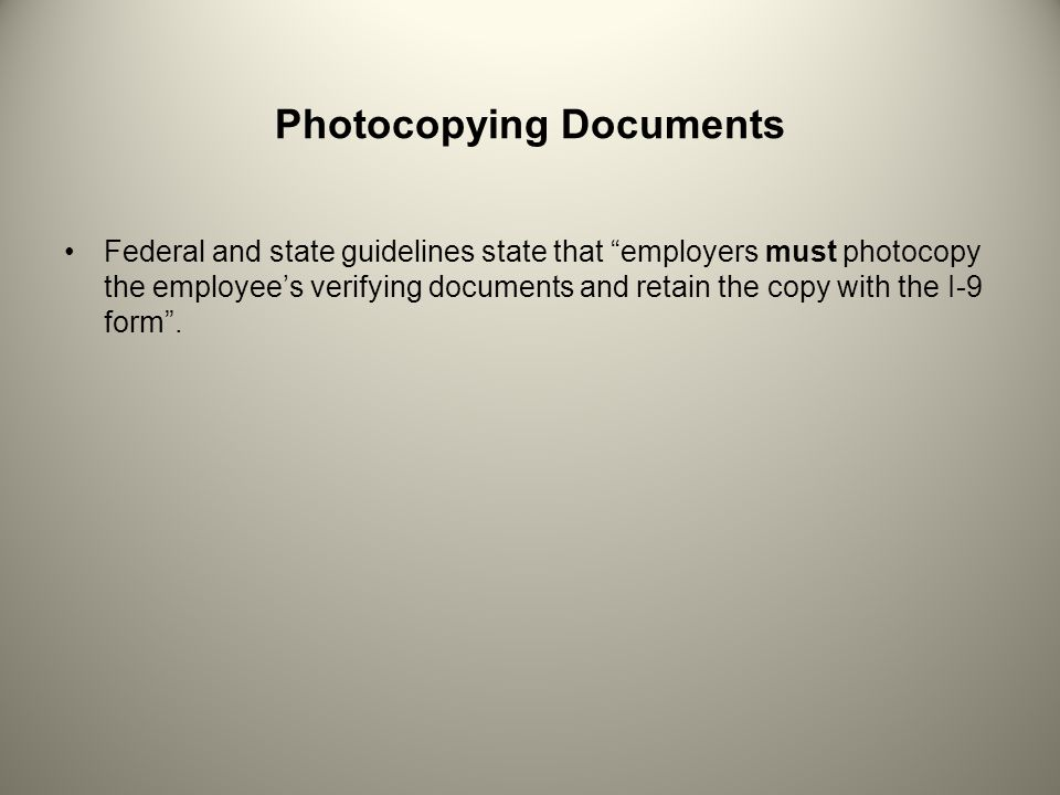 Photocopying Documents