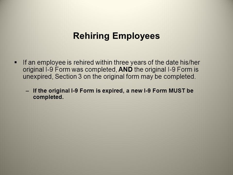 Rehiring Employees