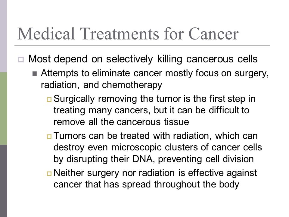 Medical Treatments for Cancer