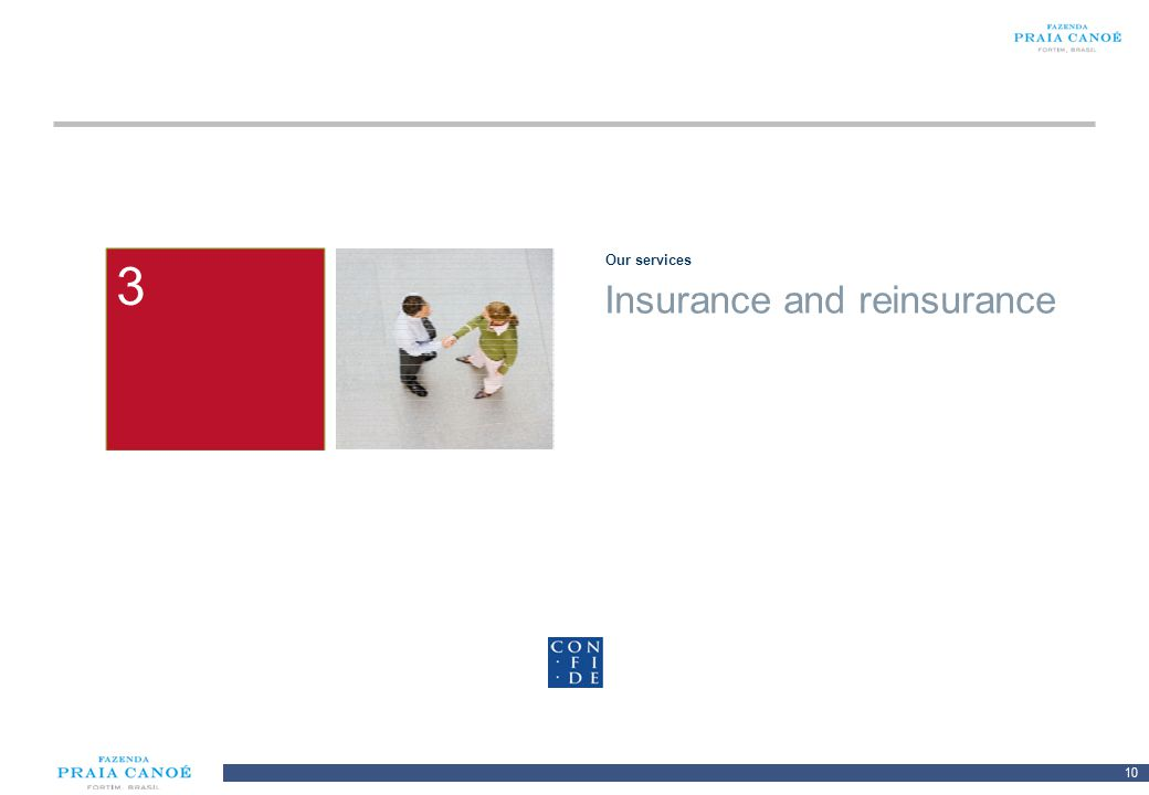 3 Our services 2 1 Insurance and reinsurance