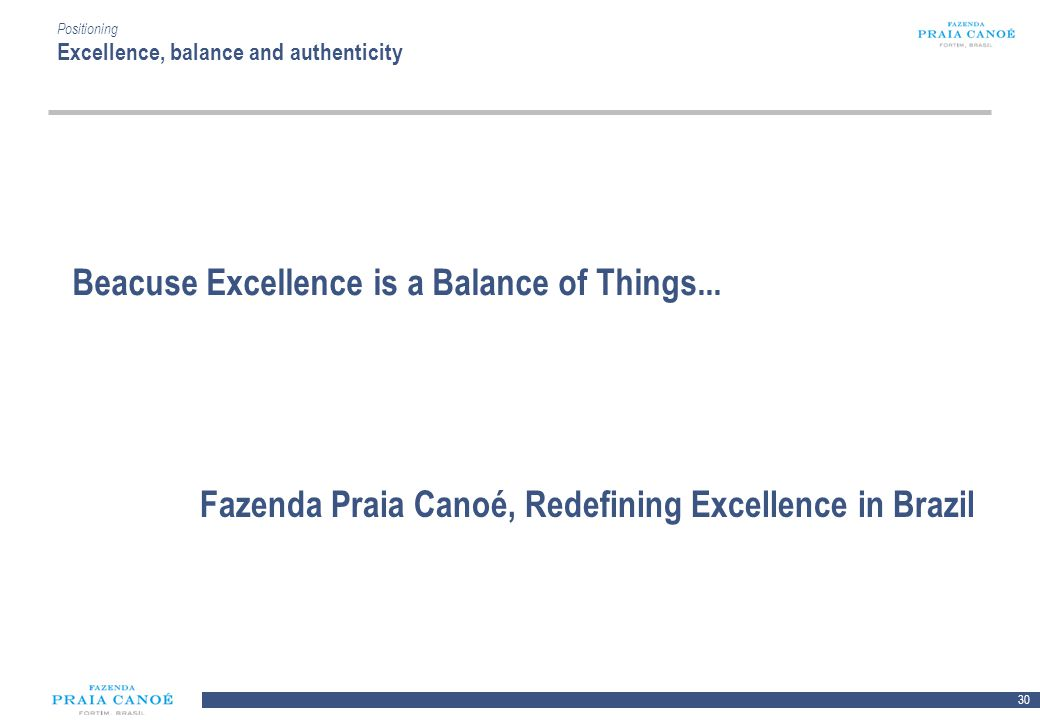 Beacuse Excellence is a Balance of Things...