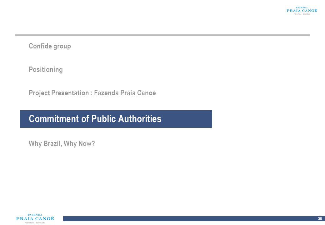 Commitment of Public Authorities
