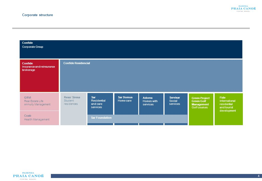 Corporate structure Confide Corporate Group Confide